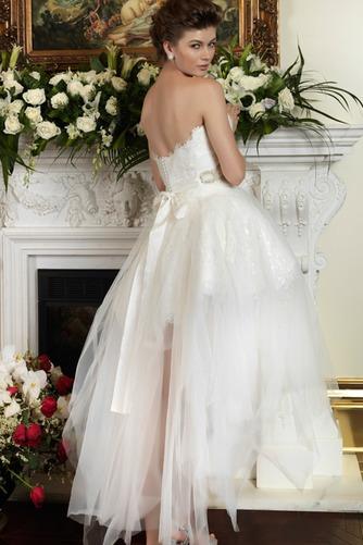 Vestido de novia Escote Corazón Espalda Descubierta Cristal Asimétrico Dobladillo - Página 2