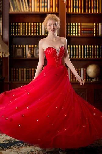 Vestido de novia primavera Natural tul Cremallera Escote Corazón Corte-A - Página 3