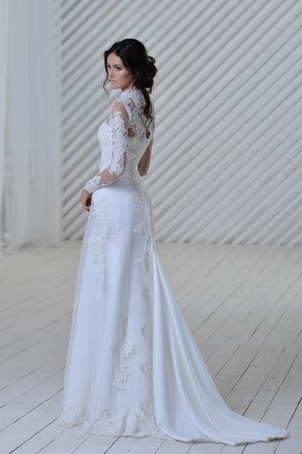 Vestido de novia Manga larga Iglesia Apliques Natural Clasicos Alto cubierto - Página 2