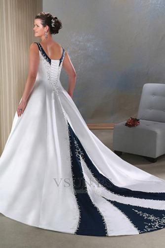 Vestido de novia Tallas grandes Espalda medio descubierto primavera - Página 2