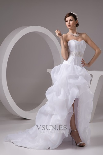 Vestido de novia Playa Falta Cintura Baja Asimètrico Espalda Descubierta - Página 3