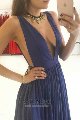 Vestido de fiesta Espalda Descubierta Sin mangas Corte-A Otoño Hasta el suelo - Página 4