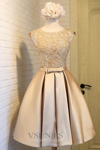 Vestido de cóctel Elegante Hasta la Rodilla Corte-A Bordado Pera Natural - Página 7