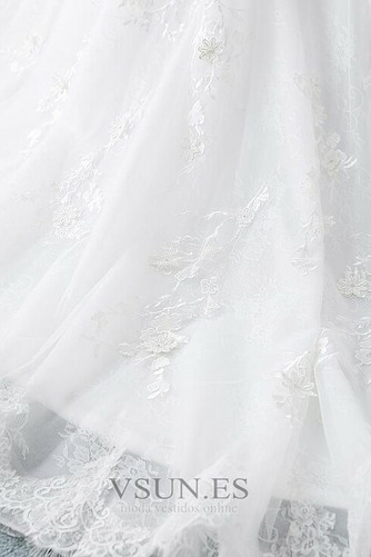 Vestido de novia Manga larga Corte-A Sala Pura espalda Cola Corte Otoño - Página 7