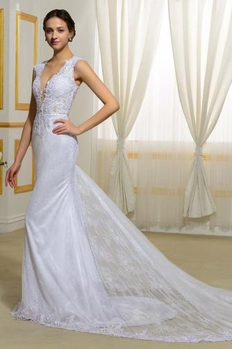 Vestido de novia Natural Elegante Corte Sirena Escote en V Drapeado - Página 2