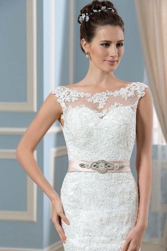 Vestido de novia Corte Recto Satén Arco Acentuado Cristal Espalda Descubierta - Página 6