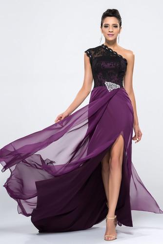 Vestido de noche Corte Sirena largo Asimétrico Estilo Delgado sexy Frontal Dividida - Página 3