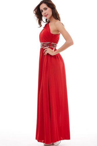 Vestido de fiesta Elegante Plisado Natural Corte-A Hasta el Tobillo Espalda medio descubierto - Página 3