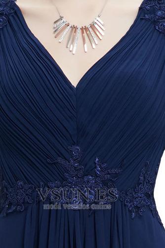 Vestido de noche Escote en V Camiseta Corte-A Hasta el suelo Tallas pequeñas - Página 2