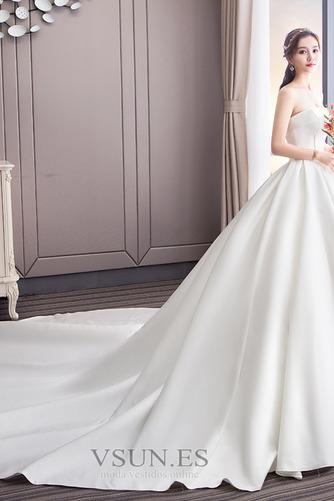 Vestido de novia Sin tirantes Espalda Descubierta Reloj de Arena Cola Catedral - Página 2