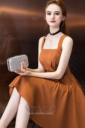 Vestido de cóctel Elegante Espalda Descubierta Asimétrico Dobladillo - Página 5