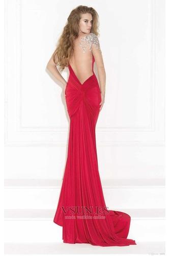 Vestido de noche Elegante Falta Corte Sirena Hasta el suelo Pura espalda - Página 2