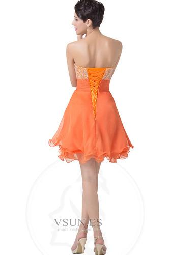 Vestido de cóctel Gasa Cordón Sin tirantes Cascada de volantes Corpiño Acentuado con Perla - Página 2