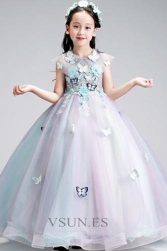 Vestido niña ceremonia Sin mangas Corte-A primavera Joya Natural Formal - Página 1