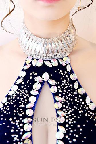 Vestido de fiesta primavera Cristal Corpiño Acentuado con Perla Cola Barriba - Página 5