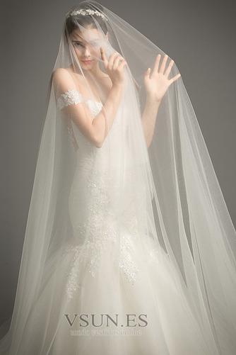 Vestido de novia Corte Sirena tul Iglesia Formal Falta Cordón - Página 5
