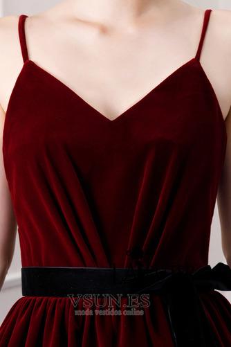 Vestido de fiesta Triángulo Invertido Cordón Natural Drapeado Corte-A - Página 7