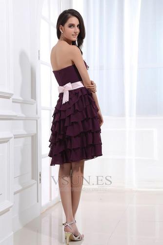 Vestido de dama de honor Capa Multi Oscilación Hasta la Rodilla Verano Natural - Página 4