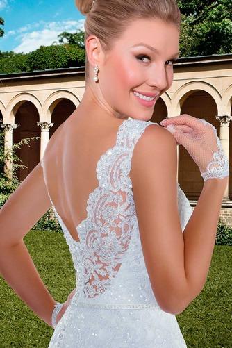 Vestido de novia Con velo Corte-A Apliques Otoño Natural Encaje - Página 4
