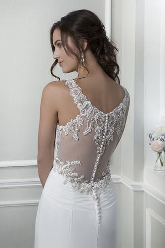 Vestido de novia Playa Pura espalda Escote Corazón Gasa Verano Corte Recto - Página 4