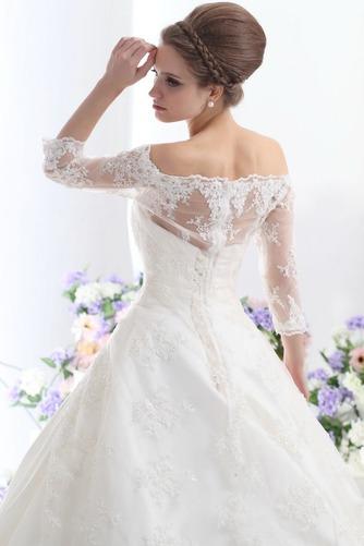 Vestido de novia Clasicos Cordón Mangas Illusion Sala Escote con Hombros caídos - Página 4