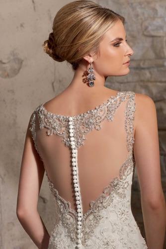 Vestido de novia Sala Otoño Corte Sirena Sin mangas Pura espalda Natural - Página 4
