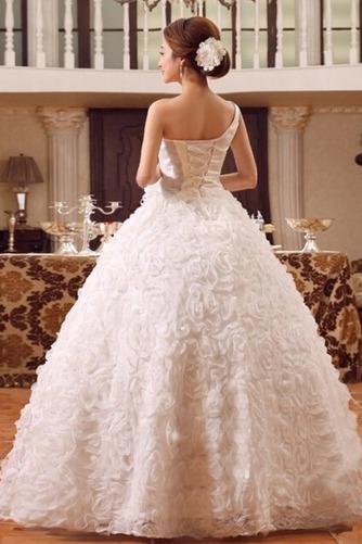 Vestido de novia Colores Sala Flores largo Un tirante con flor Sin mangas - Página 4