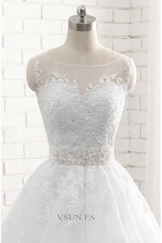 Vestido de novia Sin tirantes Natural Cordón Capa de encaje Encaje Fajas - Página 4