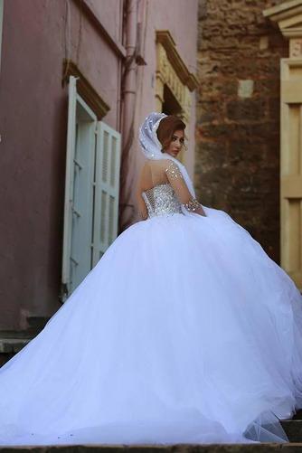 Vestido de novia Estrellado Corpiño Acentuado con Perla Sala Manga larga - Página 4