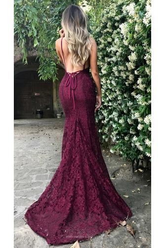 Vestido de noche Elegante largo Cordón Natural Falta Capa de encaje - Página 2