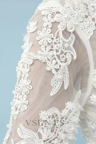 Vestido de novia Romántico Cordón Corte-A Fuera de casa Manga larga - Página 6