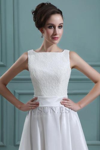 Vestido de novia Playa Oscilación Apliques Natural Corte-A Encaje - Página 5