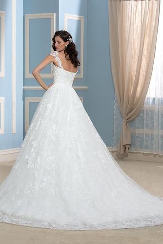 Vestido de novia Encaje Espalda Descubierta Corte-A Sala Otoño Cola Capilla - Página 2