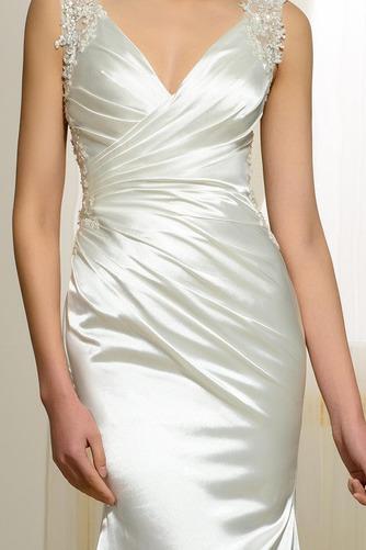 Vestido de novia Natural Corte Sirena Falta Espalda Descubierta Otoño - Página 5