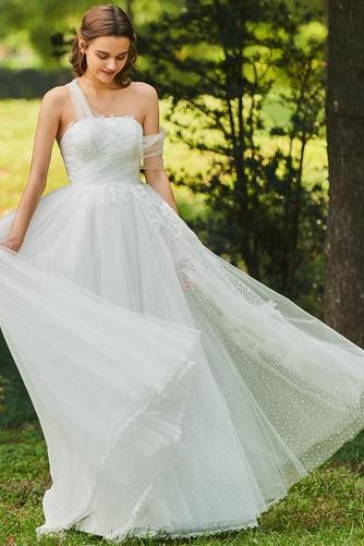 Vestido de novia Romántico Encaje Corte-A Sin mangas primavera Abalorio - Página 3