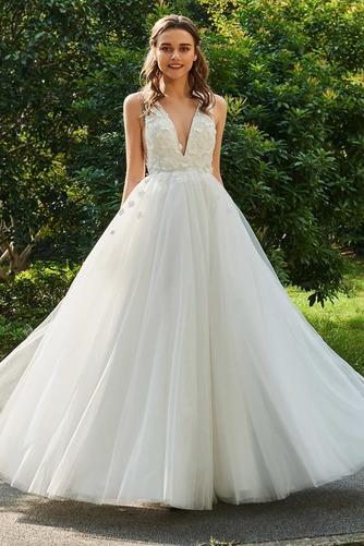 Vestido de novia Sin mangas Rosetón Acentuado Hasta el Tobillo Fuera de casa - Página 1