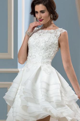 Vestido de novia Informal Verano Corte-A Oscilación Pura espalda Organza - Página 5