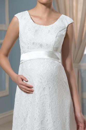 Vestido de novia Imperio Cola Barriba Moderno Escote redondo Encaje - Página 5