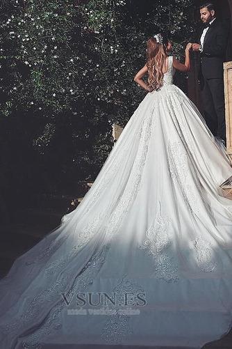 Vestido de novia Recatada largo Cremallera Iglesia primavera Formal - Página 3