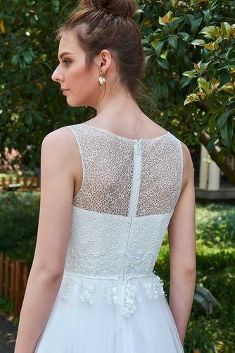 Vestido de novia Natural Barco largo Pura espalda Encaje Reloj de Arena - Página 5