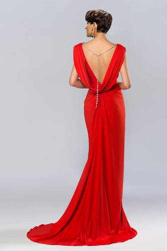 Vestido de noche Espalda Descubierta Blusa plisada Corte-A Elegante - Página 4