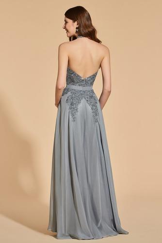 Vestido de fiesta Elegante Capa de encaje Escote con cuello Alto Corte-A - Página 2