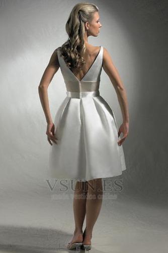 Vestido de novia Corte-A Un tirante con flor Fuera de casa Flores Delgado - Página 2