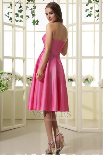 Vestido de dama de honor Oscilación 2015 Corte-A Volantes Adorno Corto Verano - Página 4