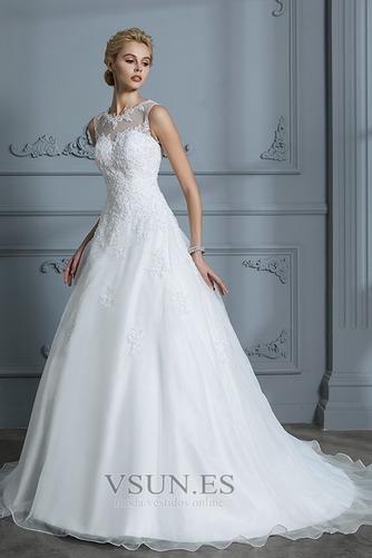 Vestido de novia Joya Encaje Falta Sala Corte-A Natural - Página 5
