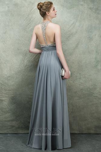 Vestido de fiesta Espectaculares Corte-A Natural Corpiño Acentuado con Perla - Página 4