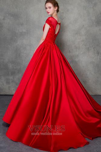 Vestido de novia Corte-A Triángulo Invertido Escote con Hombros caídos - Página 5