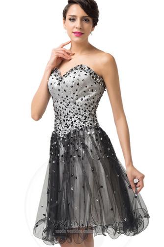 Vestido de graduacion primavera Cristal Escote Corazón Natural tul Cordón - Página 3