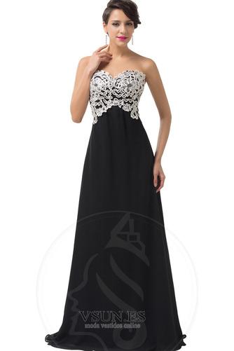 Vestido de noche Corte-A Cordón Natural Escote Corazón Encaje Cola Barriba - Página 4