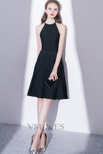 Vestido de cóctel Elegante Falta Corte-A Natural Sin mangas Hasta la Rodilla - Página 5